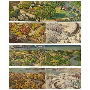 John Drake Pusey, Wall Murals, Midwest Landscapes