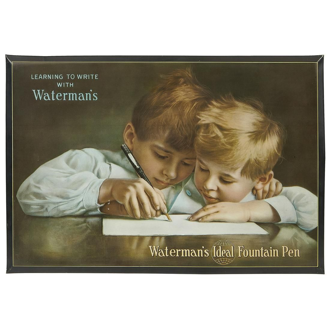 Waterman's Ideal Fountain Pen advertising sign