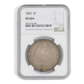 1852 Trade $1 Coin PF-63+