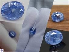 Vivid blue Sapphire, Ceylon, handcrafted, GIA 3.19 ct