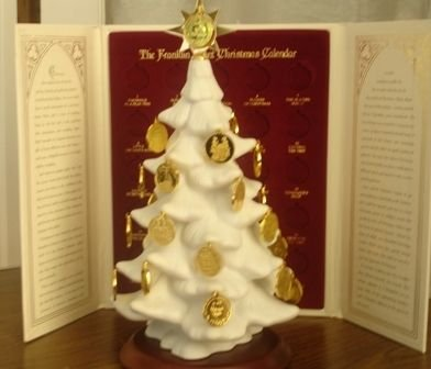 93: Franklin Mint Christmas Tree Calendar