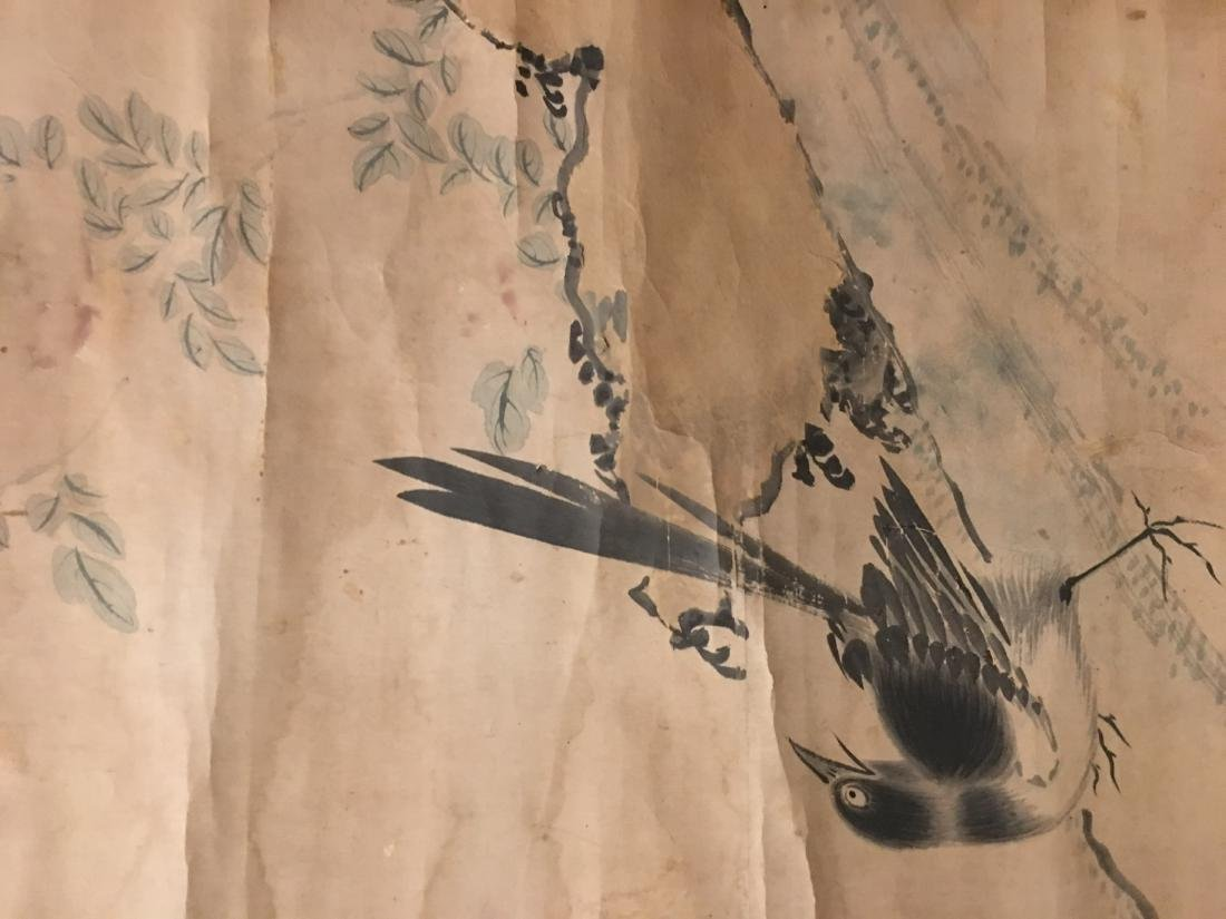 19th C. ink and colour on paper; signed Wang Wu - 2