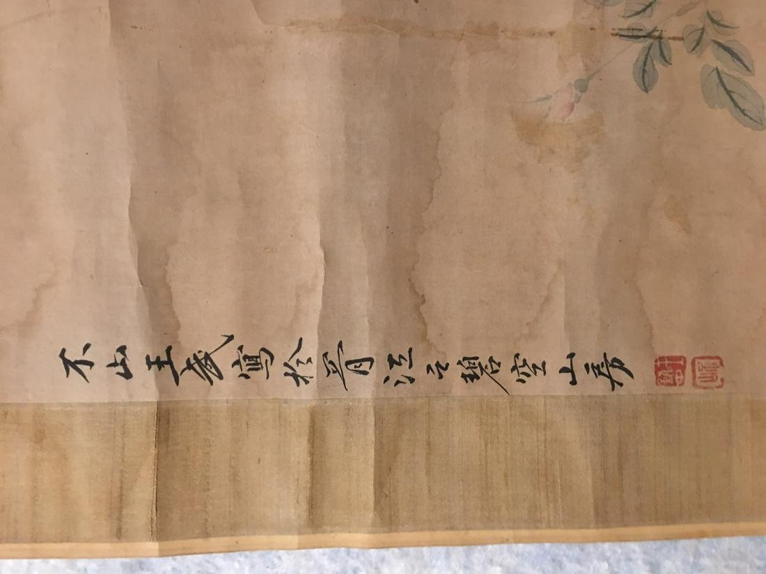 19th C. ink and colour on paper; signed Wang Wu - 3
