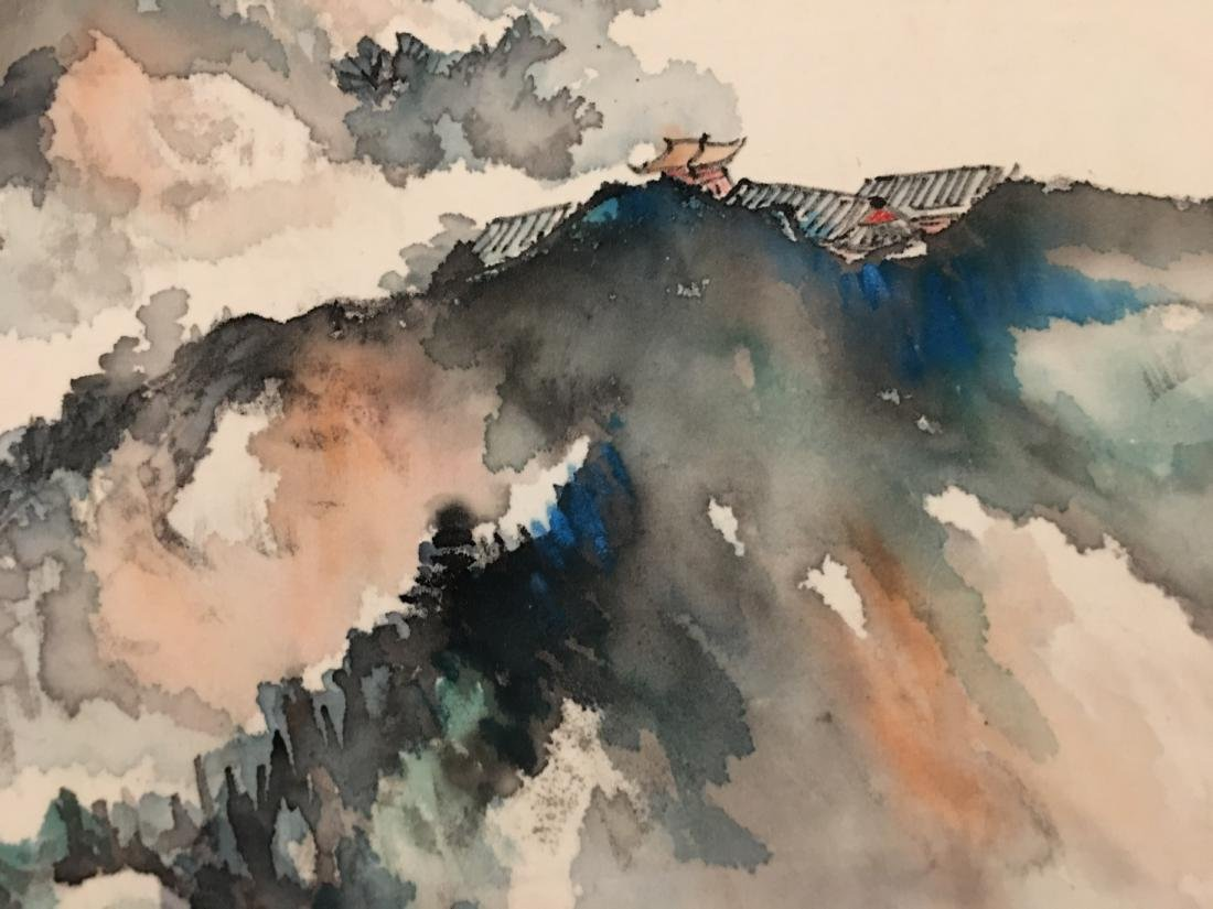 Ink and colour on paper; signed Yang Nian-Yao