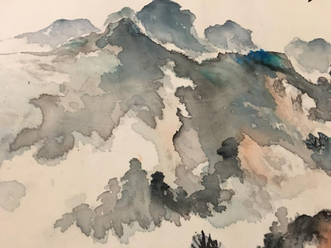 Ink and colour on paper; signed Yang Nian-Yao - 2