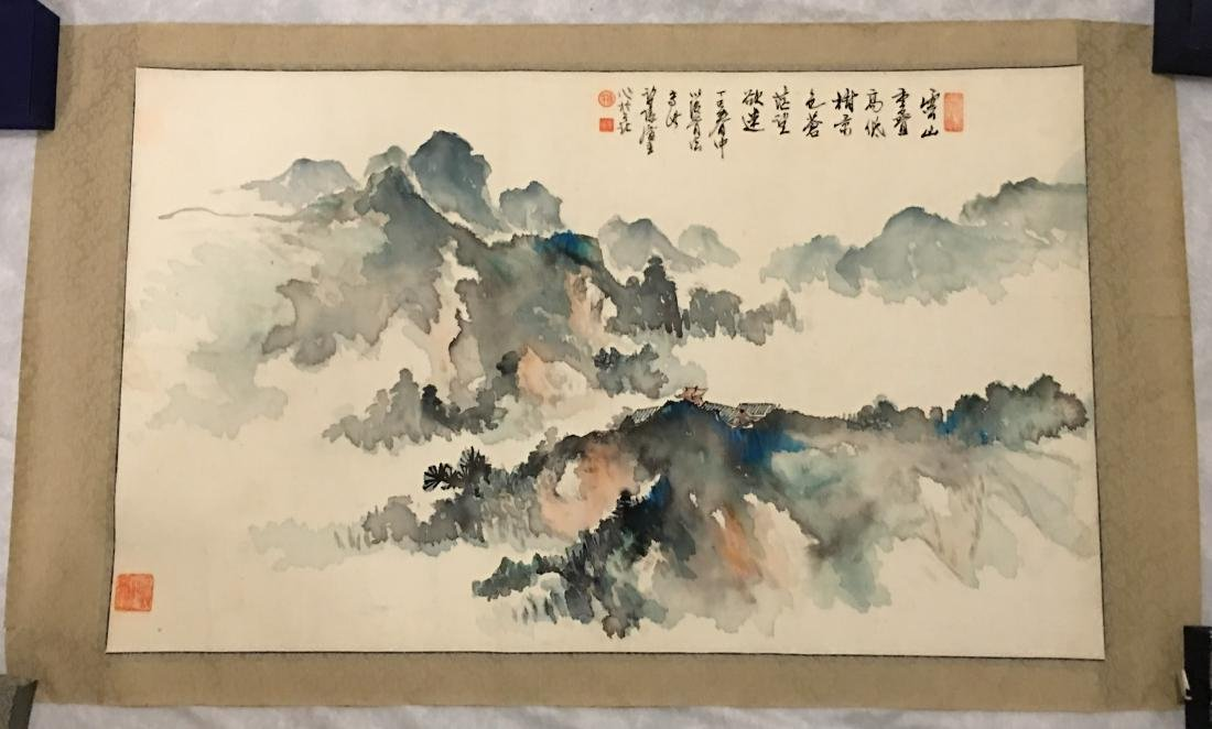 Ink and colour on paper; signed Yang Nian-Yao - 6