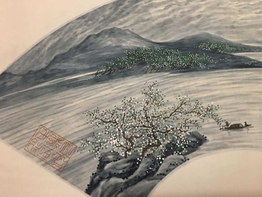 Ink and colour on paper; signed Tao Leng-Yun - 3