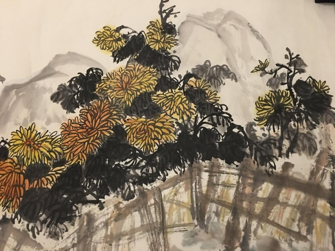Ink and colour on paper; signed Tang Wan-Qing - 2