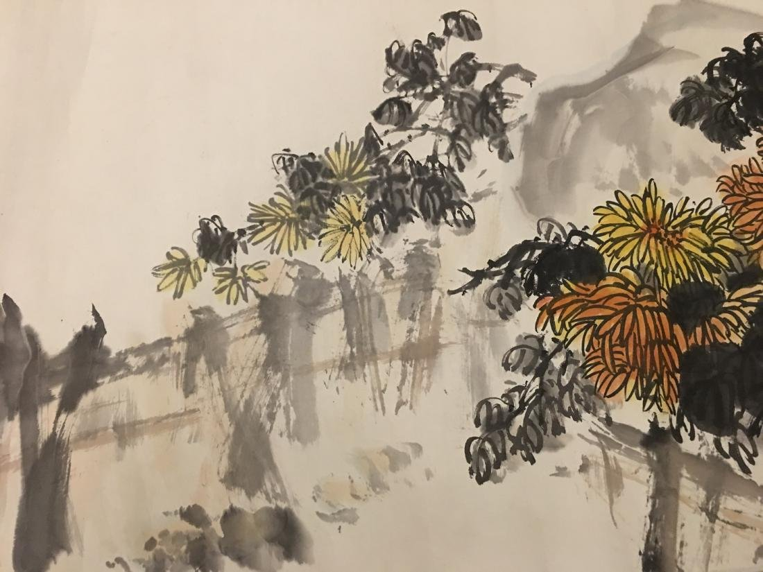 Ink and colour on paper; signed Tang Wan-Qing - 3