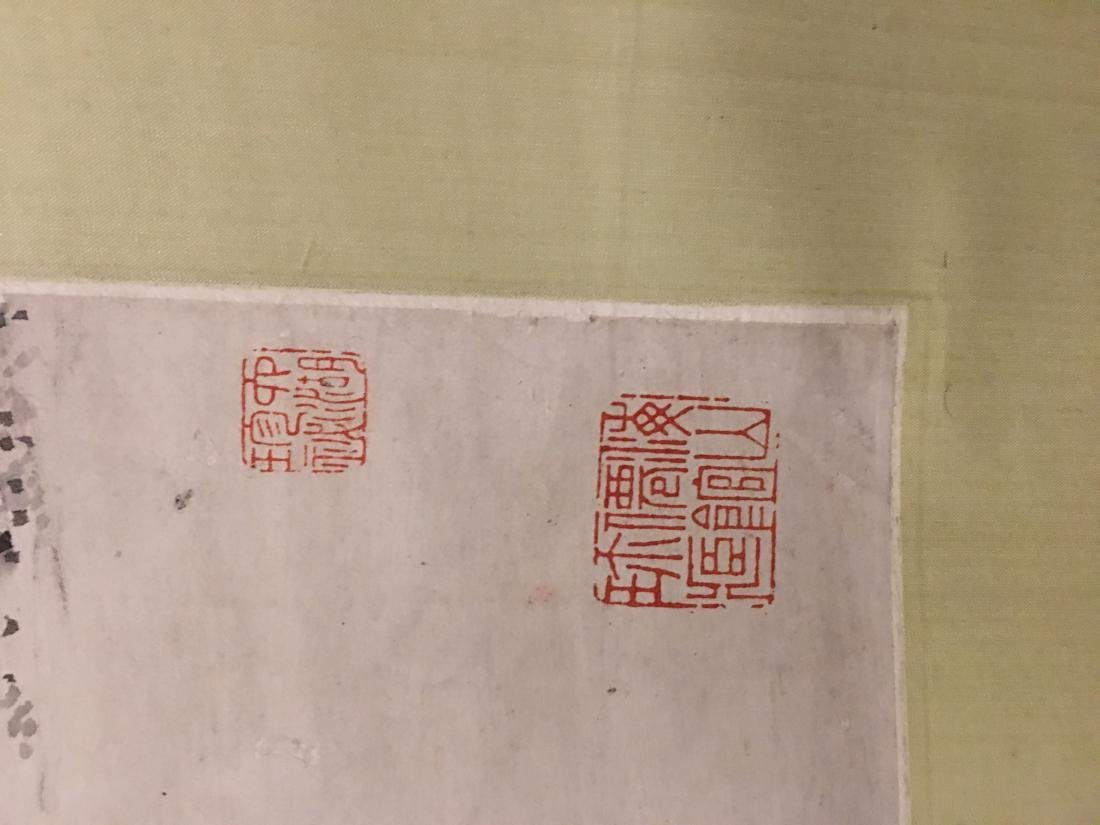 19th C. Ink on paper immortals party; signed Ding - 7