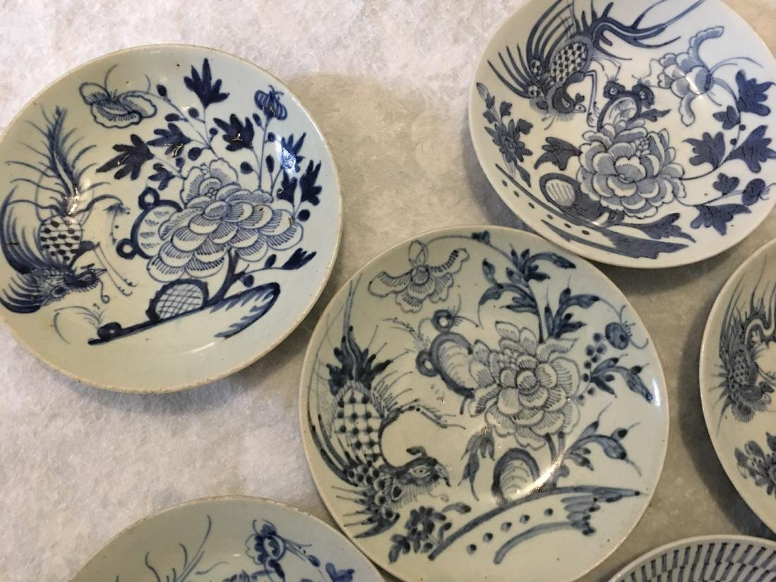 Set of 8 blue and white plates; 18/19th C. - 2