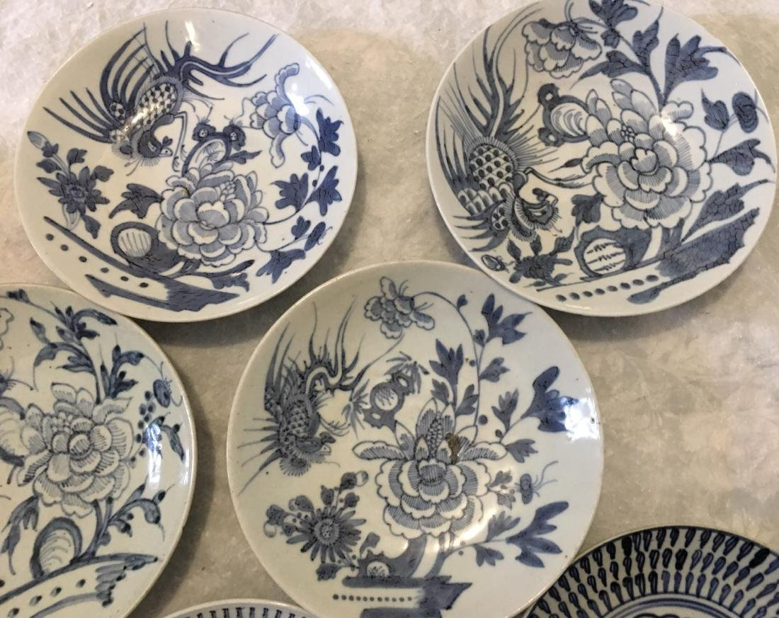 Set of 8 blue and white plates; 18/19th C. - 3