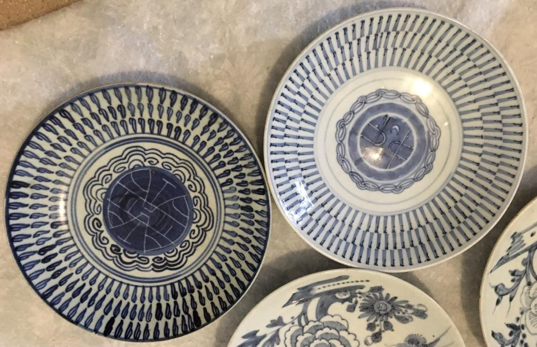 Set of 8 blue and white plates; 18/19th C. - 4