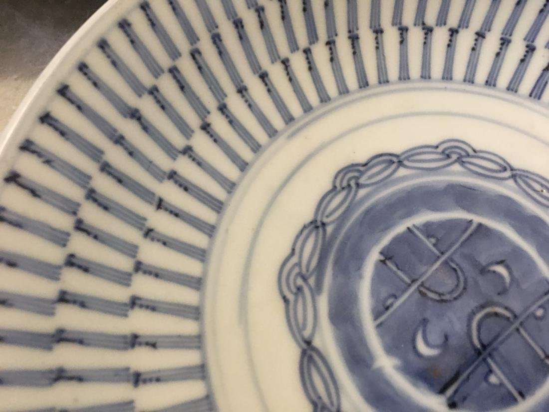 Set of 8 blue and white plates; 18/19th C. - 5