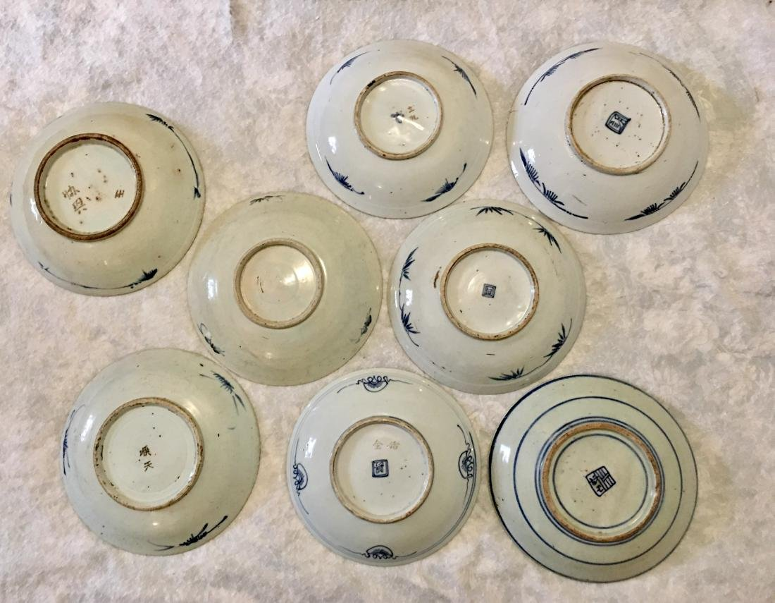 Set of 8 blue and white plates; 18/19th C. - 7