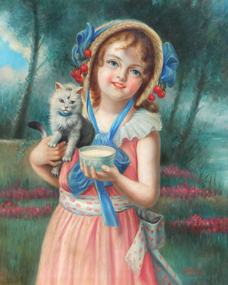 Portrait of a Girl and a Cat - 2