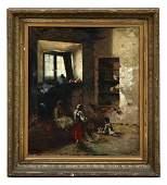E. INGANNI, 1876 Oil on canvas (Italian 19th Century)