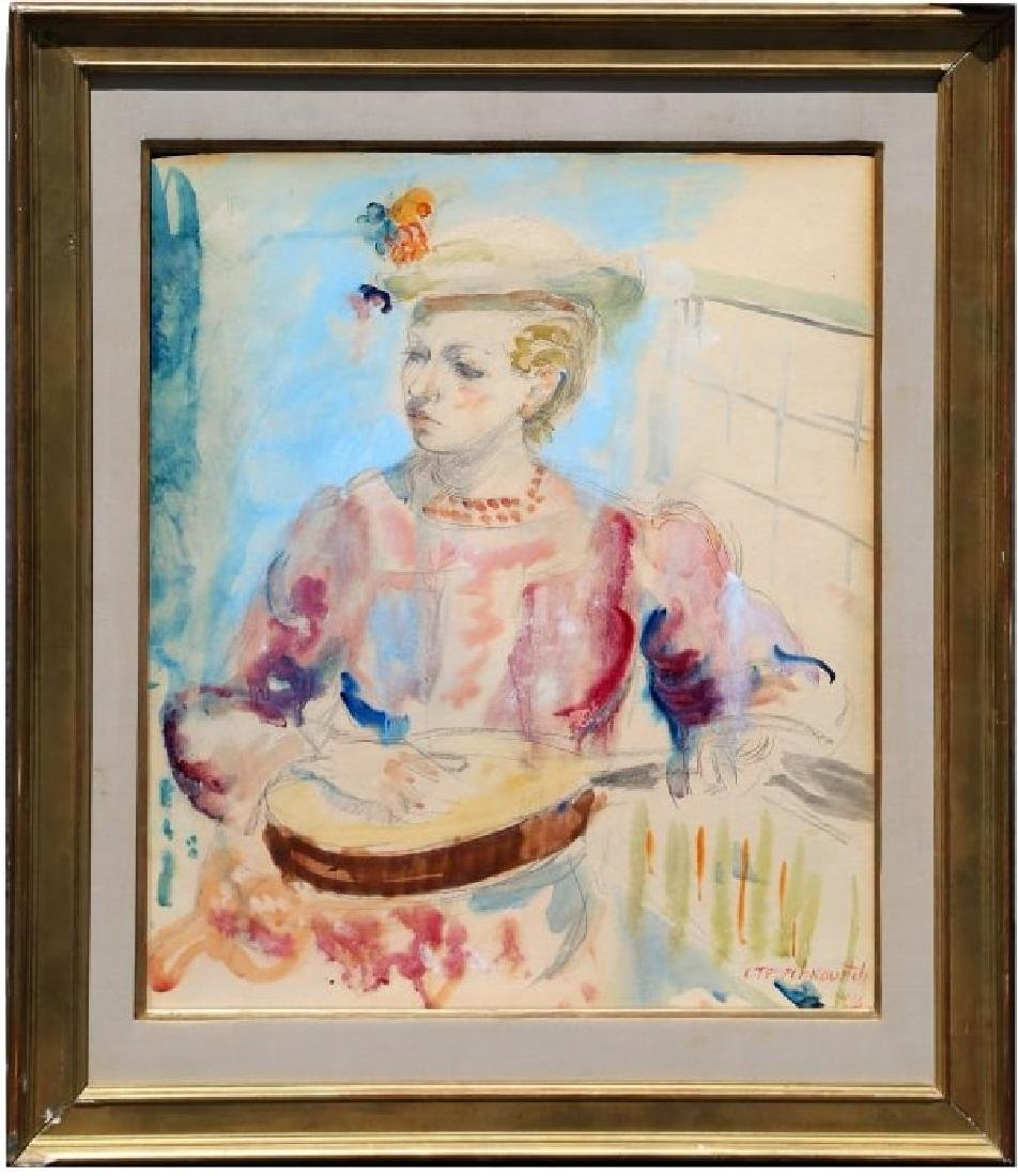 Constantin Terechkovitch, Watercolor, Signed