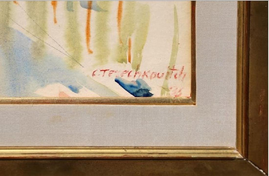 Constantin Terechkovitch, Watercolor, Signed - 4
