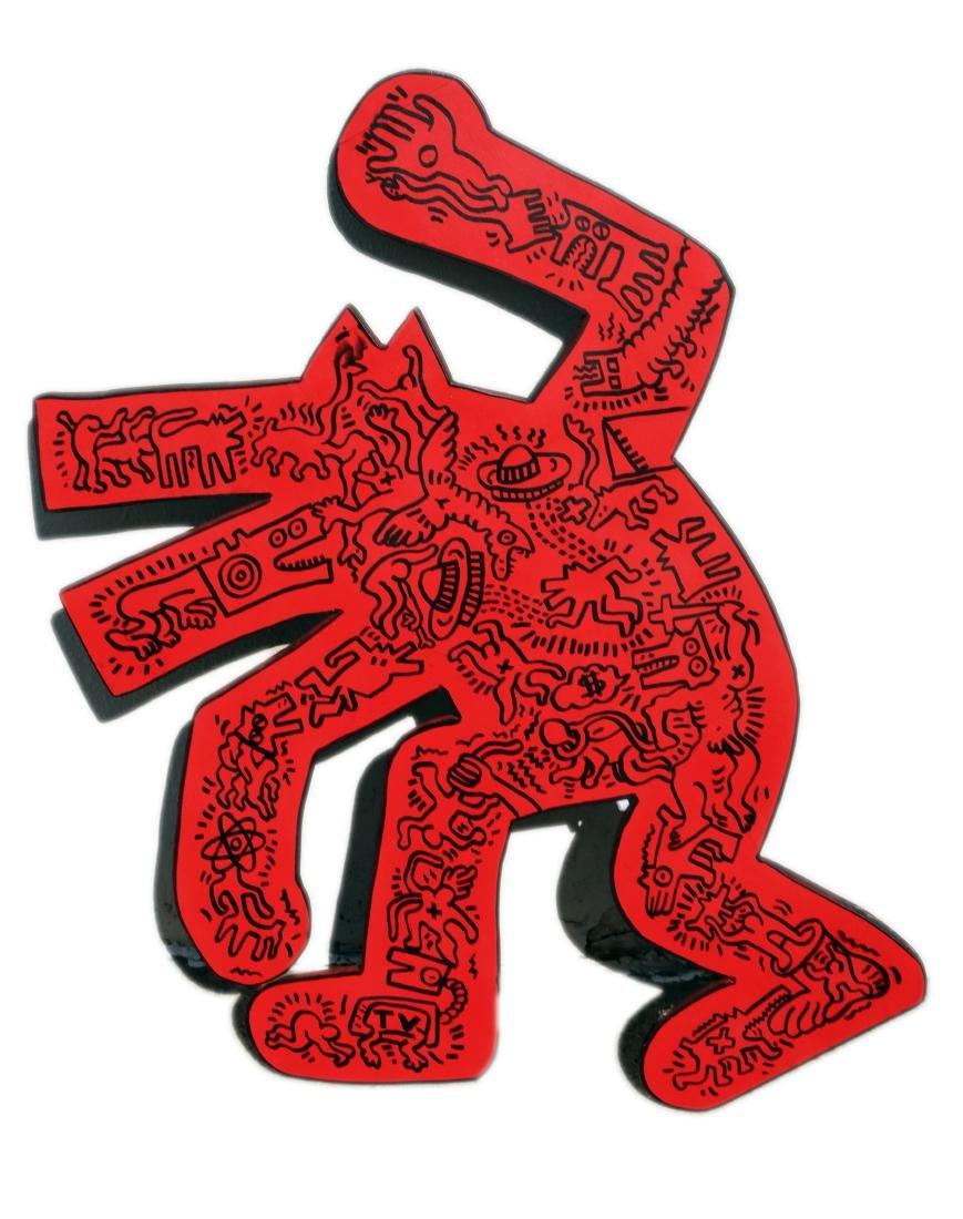 Woodcut, Signed Keith Haring