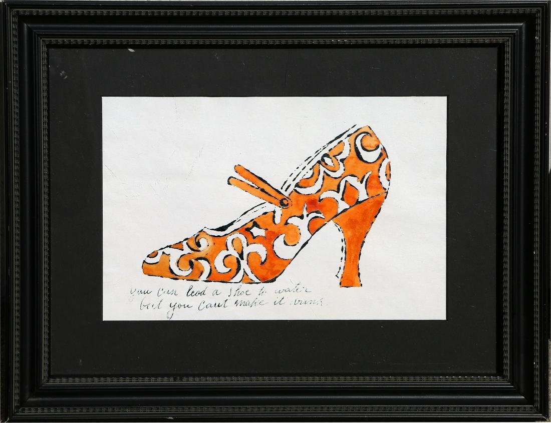 After Andy Warhol - Shoe