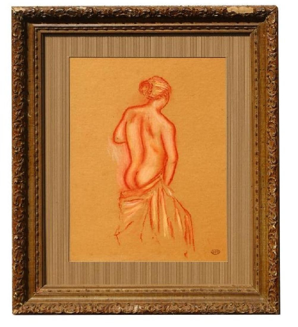 Pastel signed A. Maillol