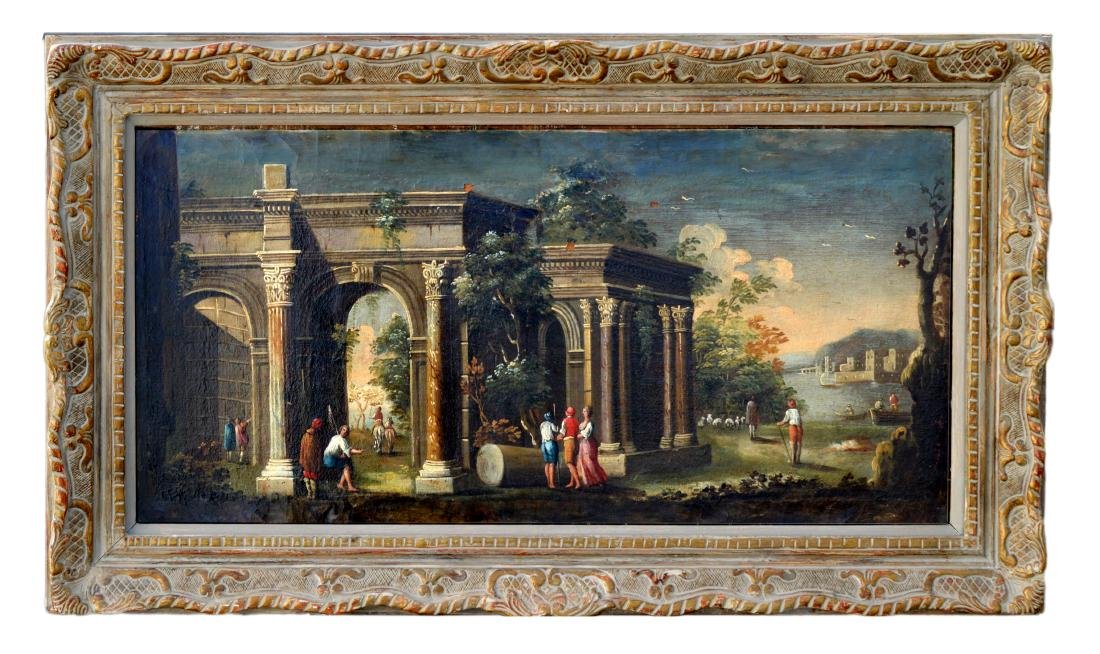 Figures amongst classical Ruins