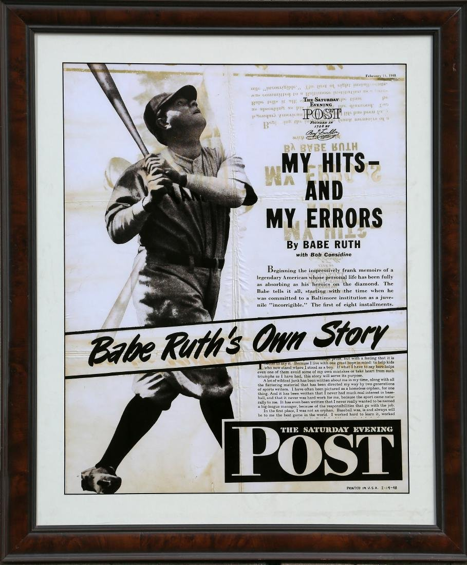 Babe Ruth and The Saturday Evening Post advertisting