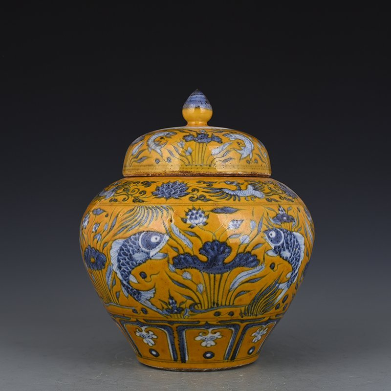 Chinese Yuan  Dynasty Period Porcelain Jar
