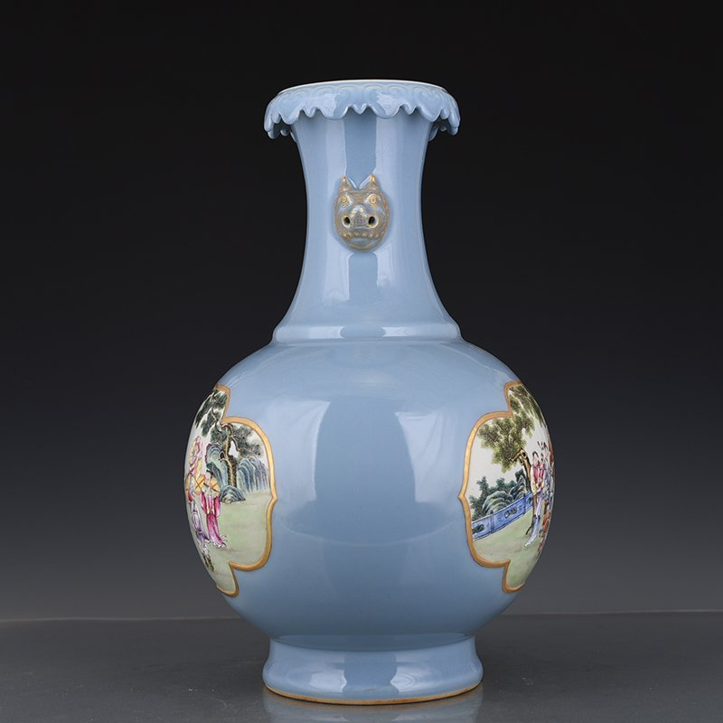 Chinese Qing Dynasty Period Porcelain Vase - 7