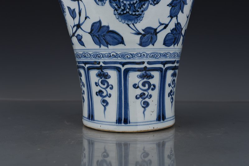 Chinese Yuan Dynasty Period Porcelain Vase - 5