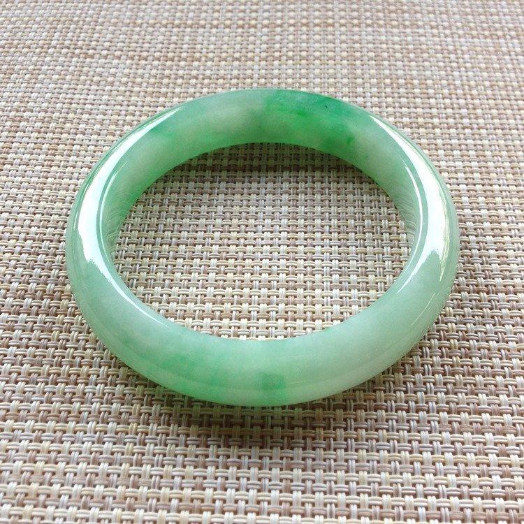 Natural Emerald Jade Bangle - 2