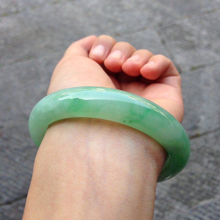 Natural Emerald Jade Bangle - 3
