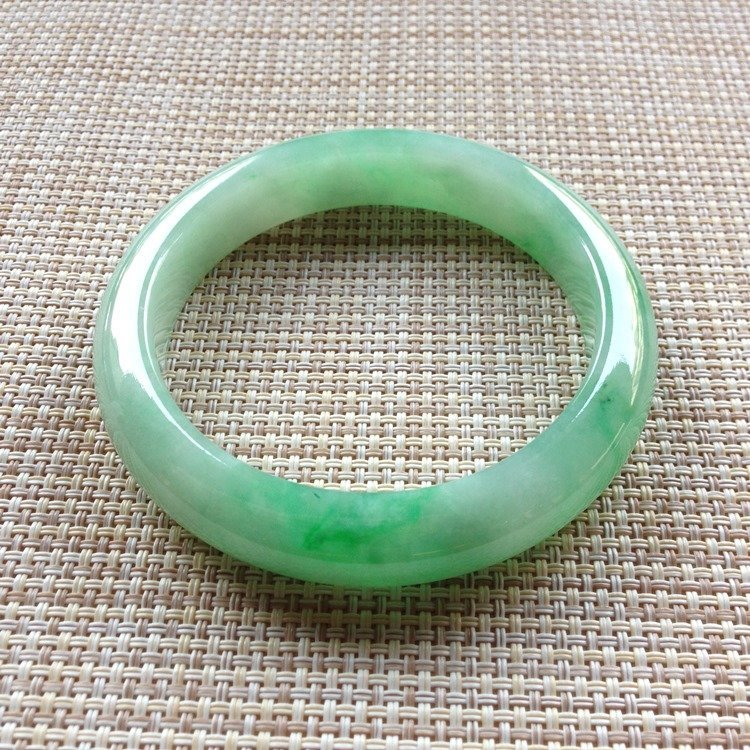 Natural Emerald Jade Bangle - 6