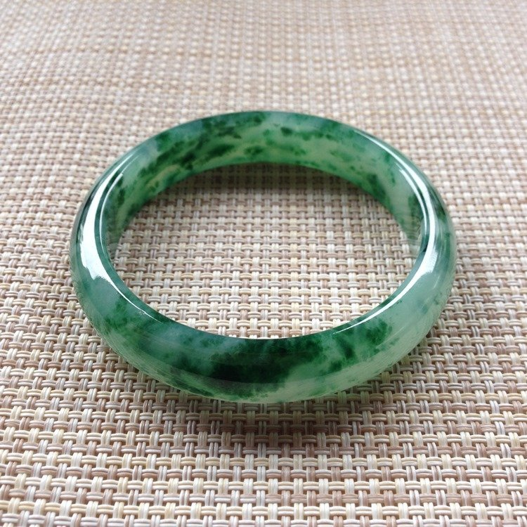 Natural Emerald Jade Bangle - 4