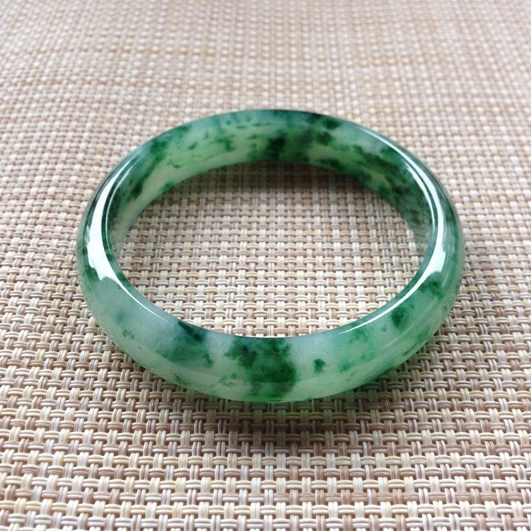 Natural Emerald Jade Bangle - 5
