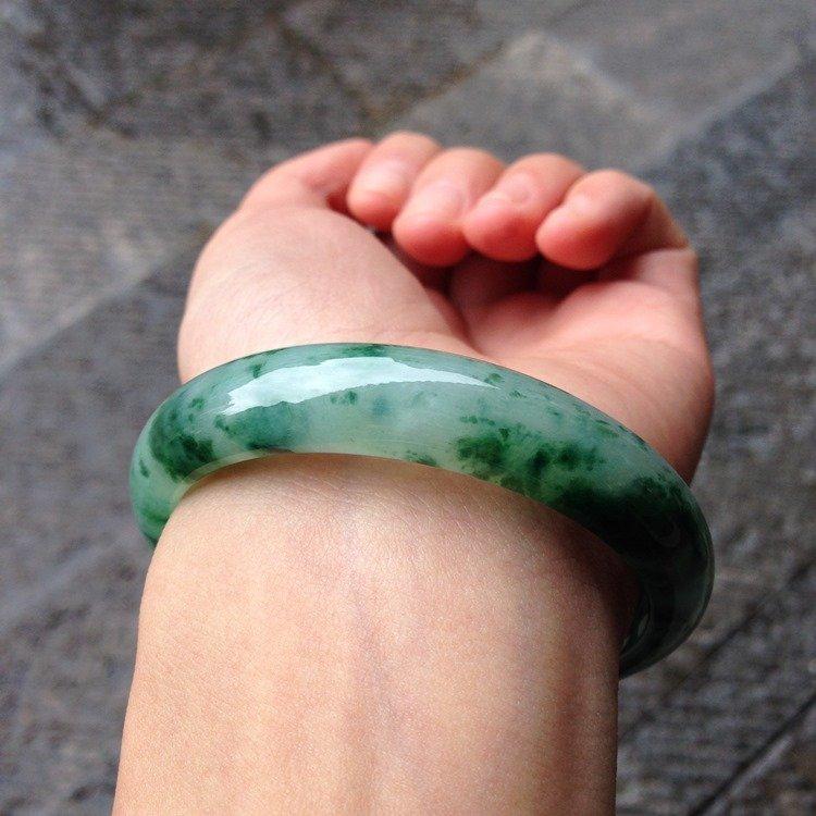Natural Emerald Jade Bangle - 7