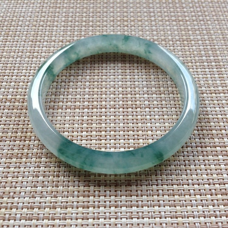 Natural Emerald Jade Bangle - 6