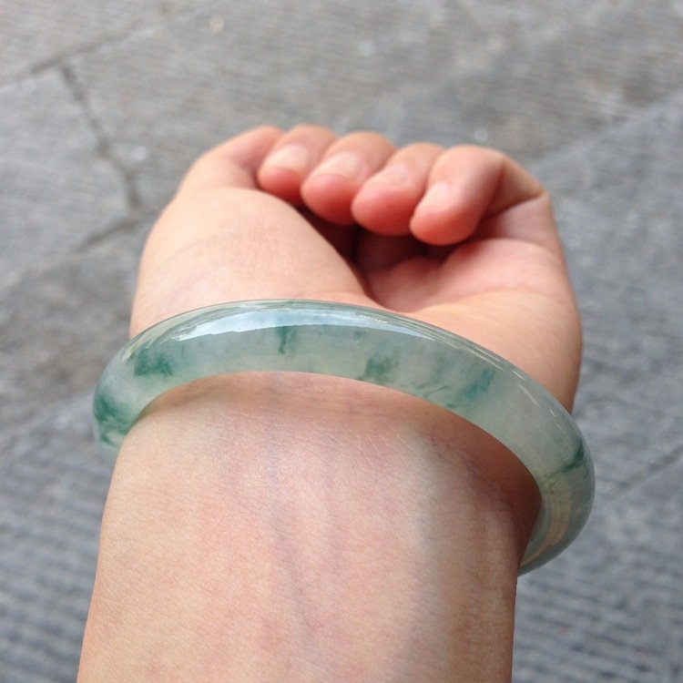 Natural Emerald Jade Bangle - 7