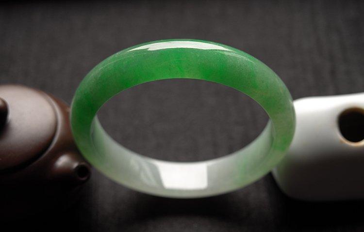 Haute  Natural Jadeite Jade Bangle - 2