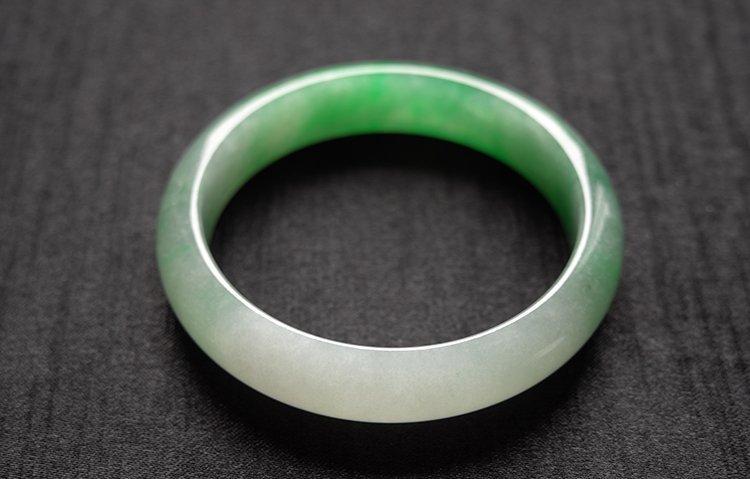 Haute  Natural Jadeite Jade Bangle - 3