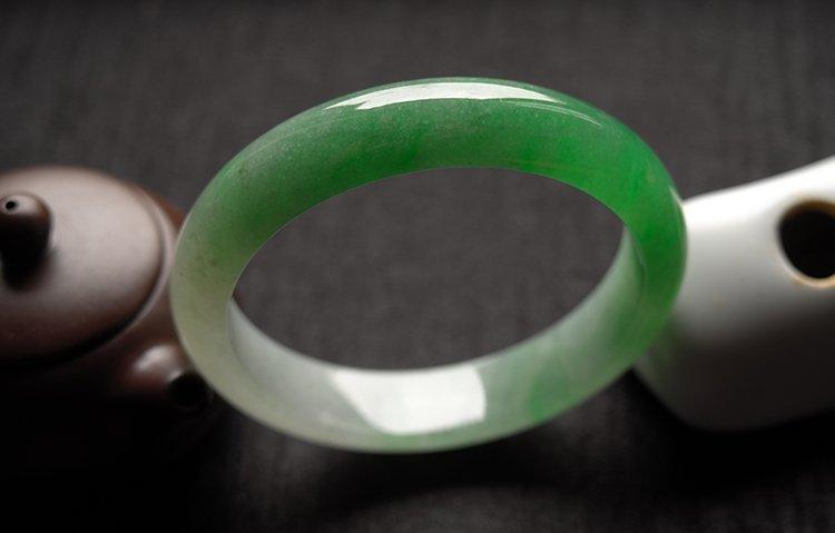 Haute  Natural Jadeite Jade Bangle - 5