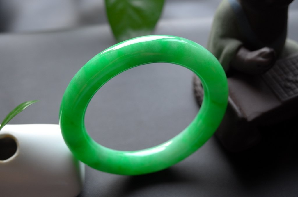 Haute  Natural Jadeite Jade Jewelry Bangle - 5
