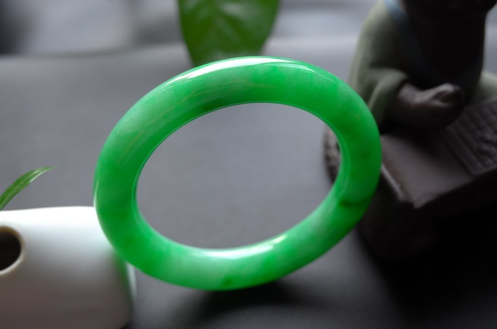Haute  Natural Jadeite Jade Jewelry Bangle - 6