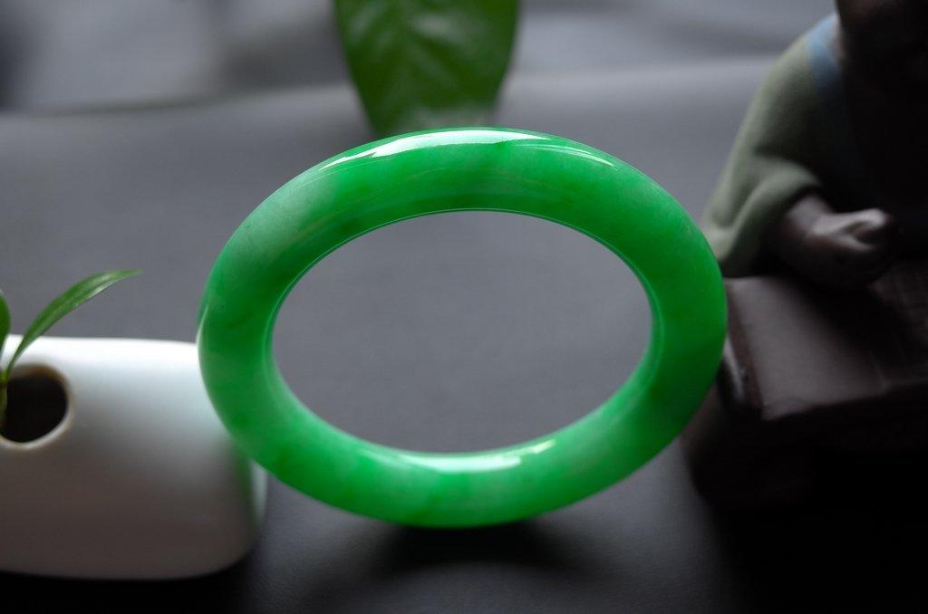 Haute  Natural Jadeite Jade Jewelry Bangle - 7