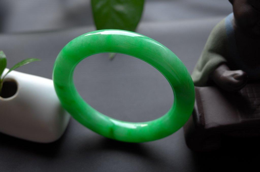 Haute  Natural Jadeite Jade Jewelry Bangle - 8