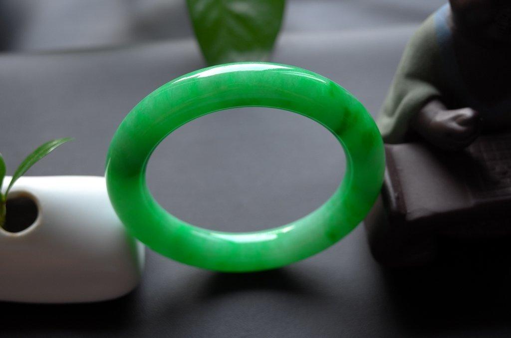Haute  Natural Jadeite Jade Jewelry Bangle - 9