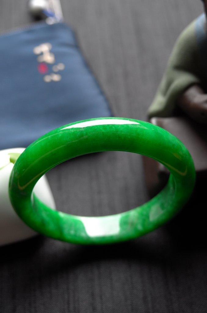 Rare Burmese jadeite jade bracelet - 2