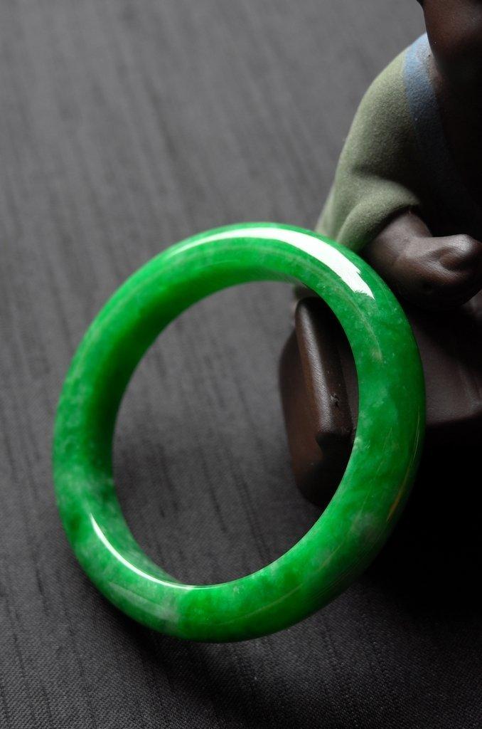 Rare Burmese jadeite jade bracelet - 5