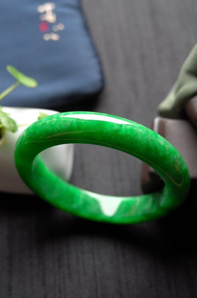 Rare Burmese jadeite jade bracelet - 8